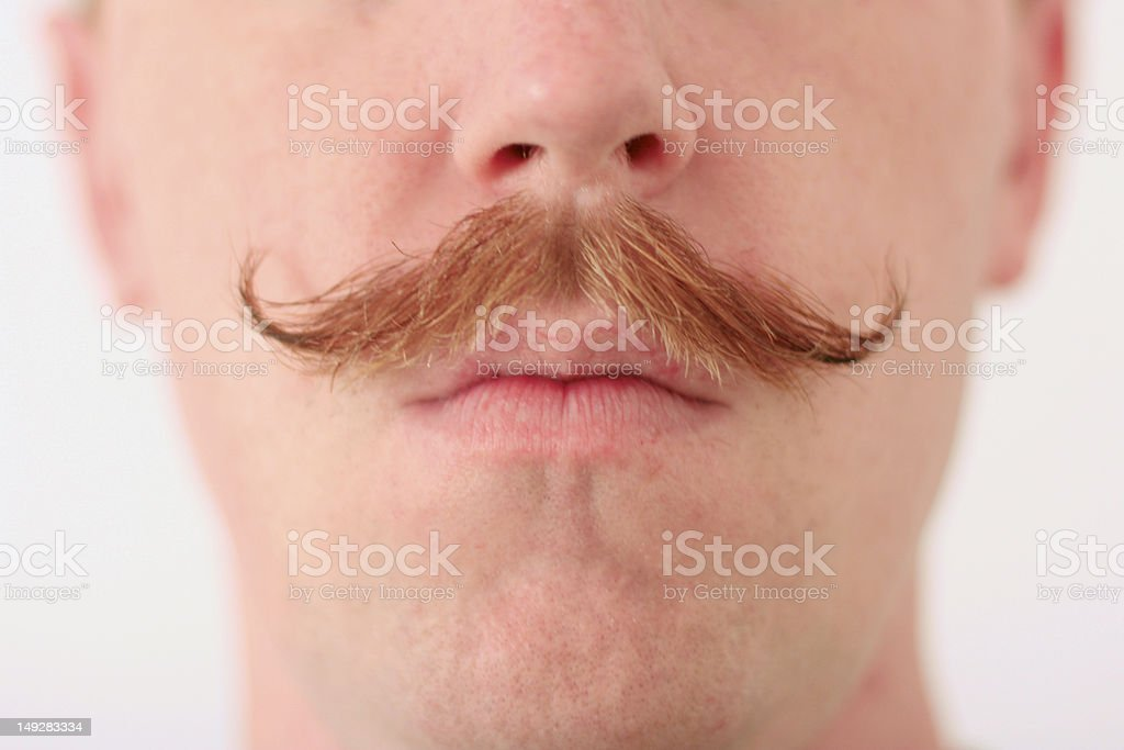 Red Mustache stock photo