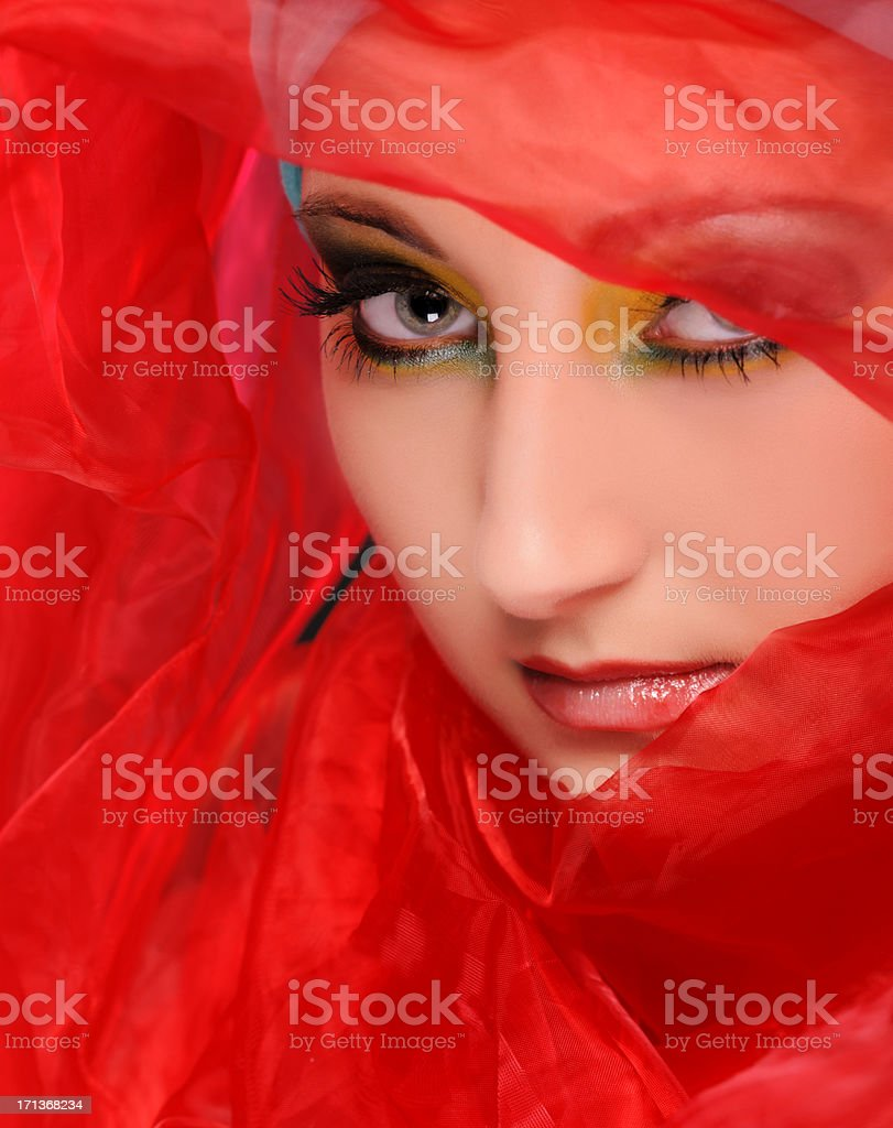red mystery stock photo