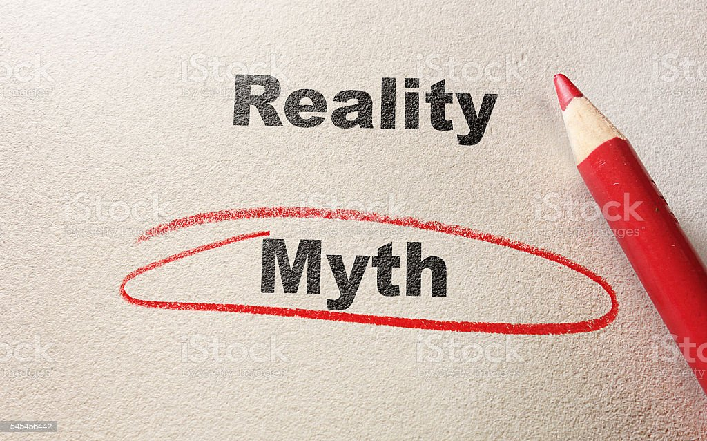 red myth circle stock photo