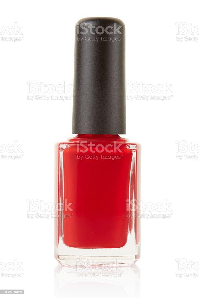 Red nail polish bottle royalty-free stock photo