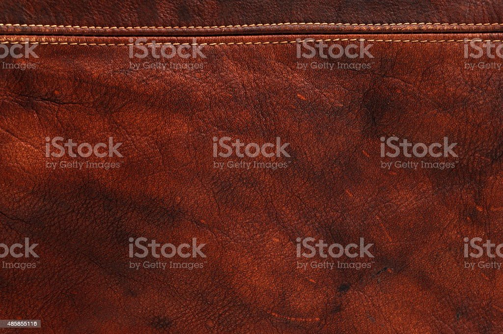 Red natural leather background stock photo