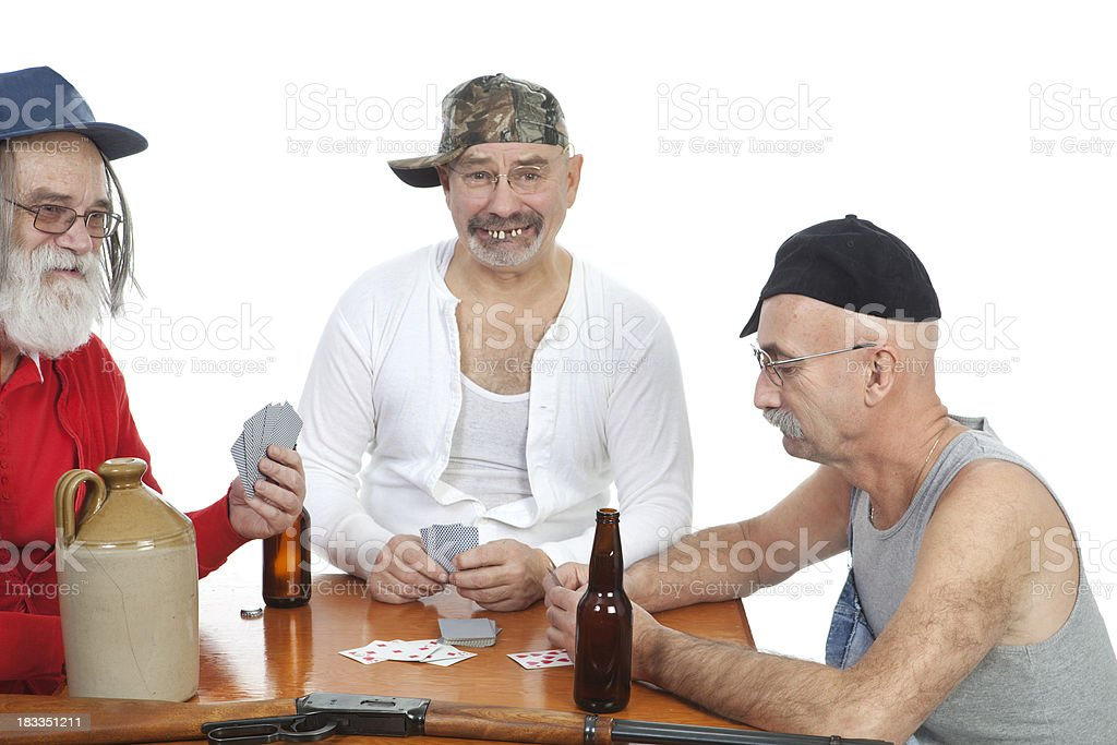 Red Neck Card Party stock photo