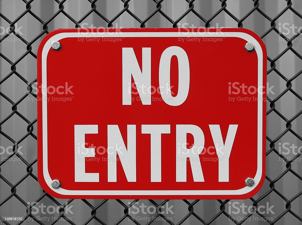 Red No Entry Sign stock photo