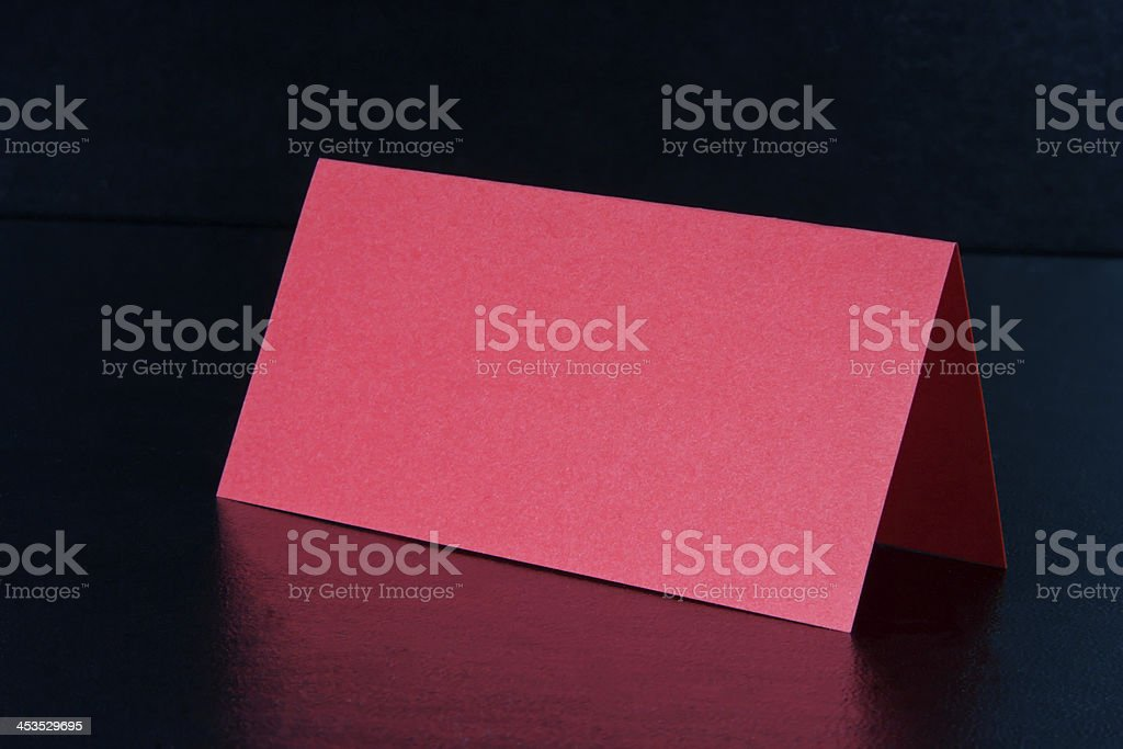 Red Note Card royalty-free stock photo