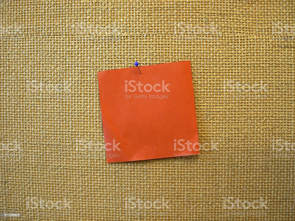 Red note royalty-free stock photo