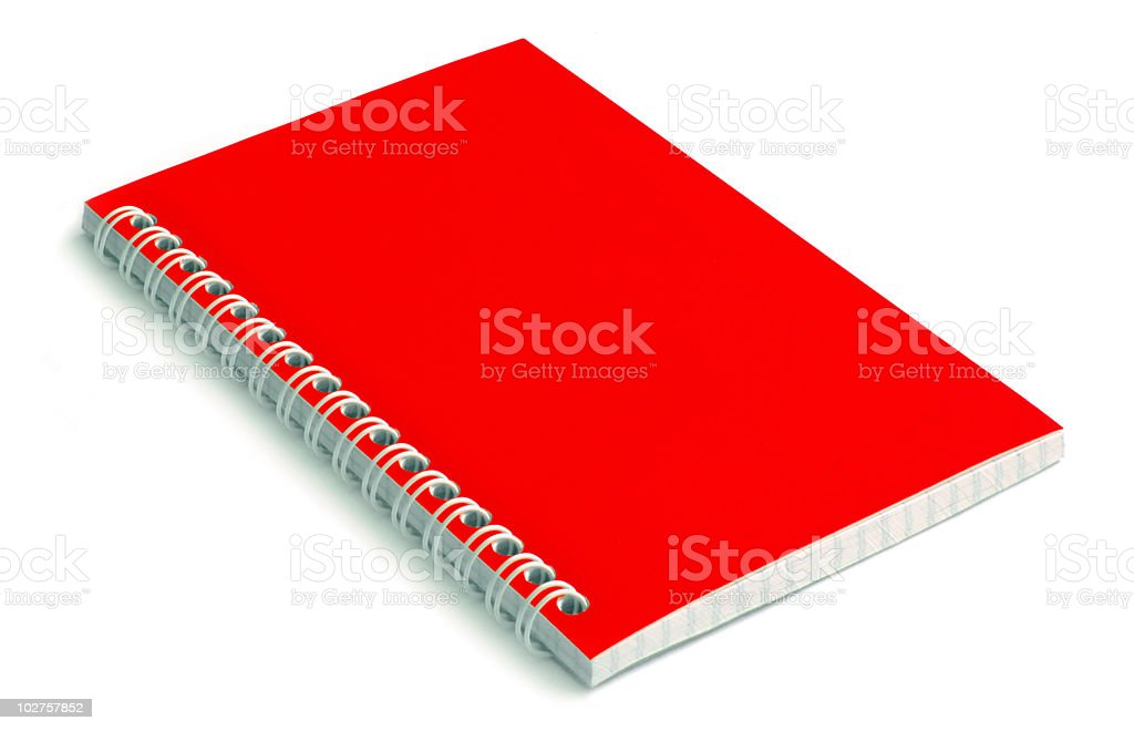 Red Notebook royalty-free stock photo