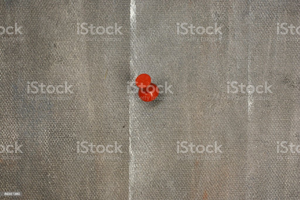 red noticing pinneedle stock photo
