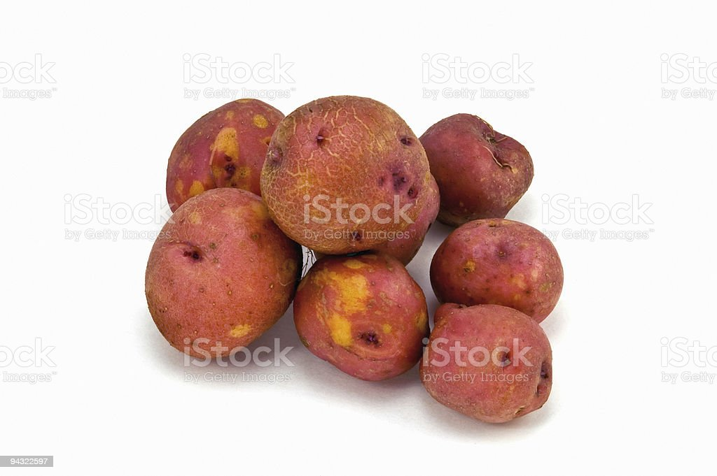 Red nugget potatoes stock photo