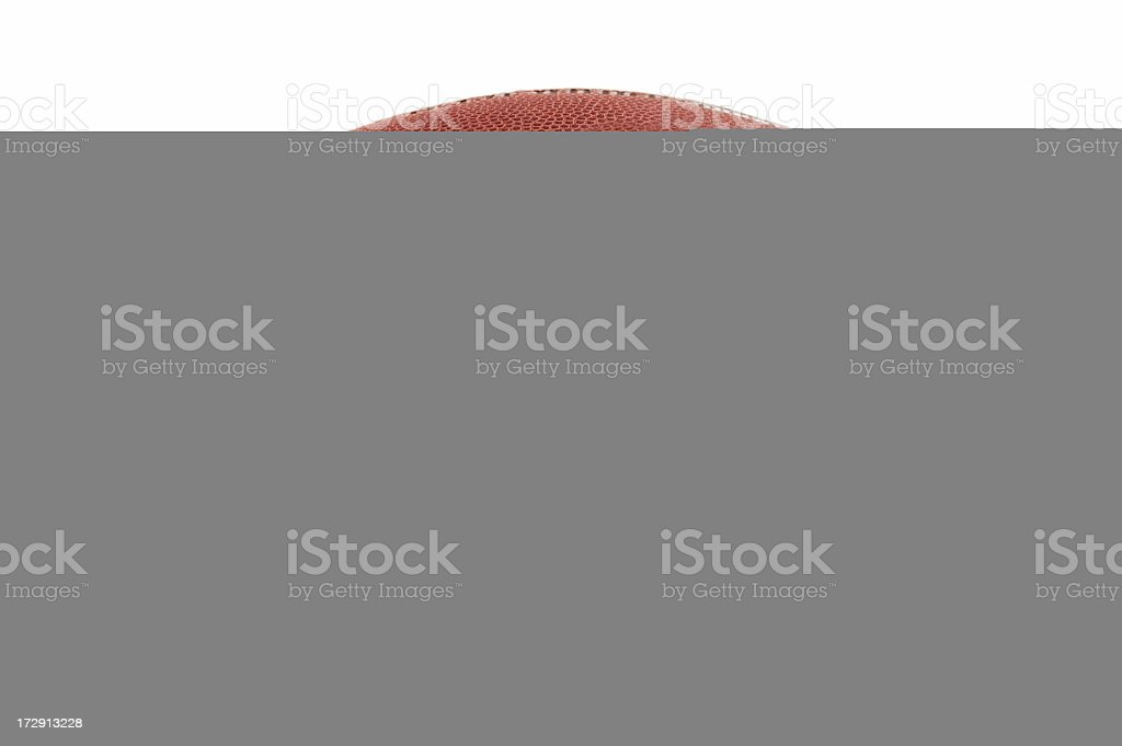 Red object hidden by a gray background stock photo