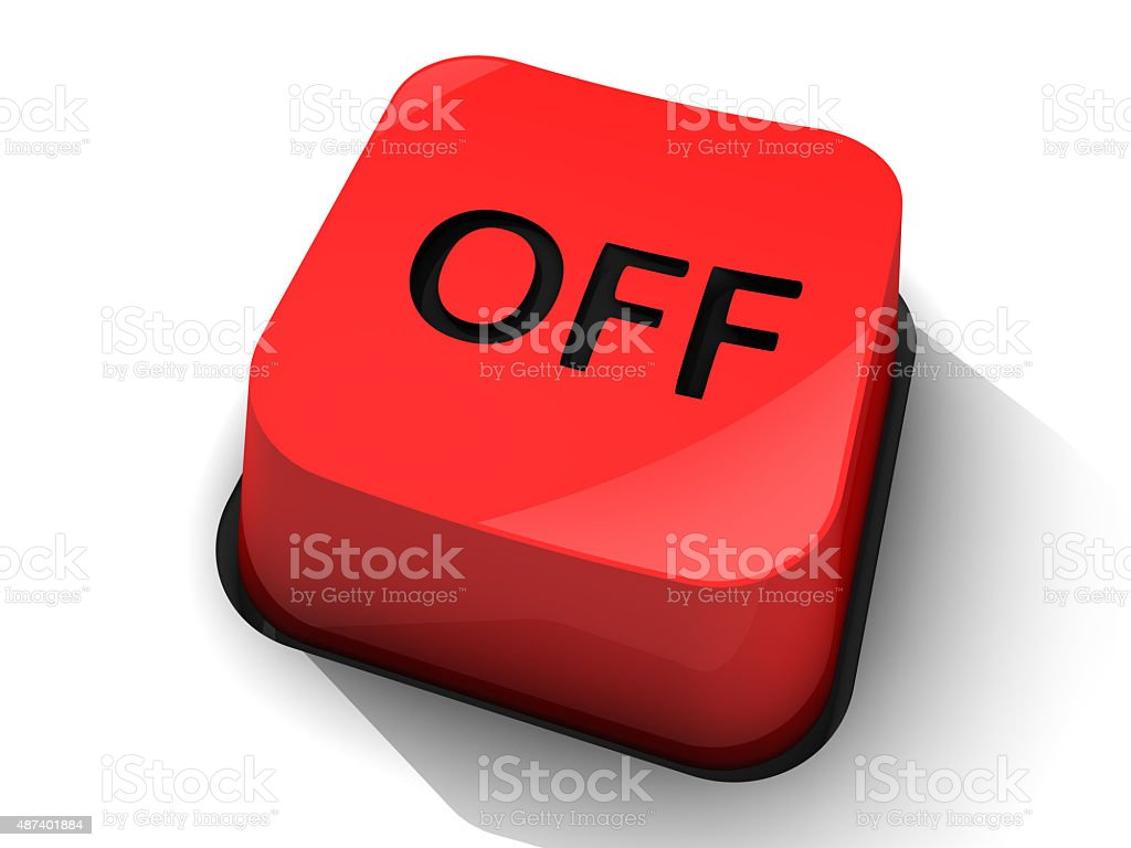 Red Off Button stock photo