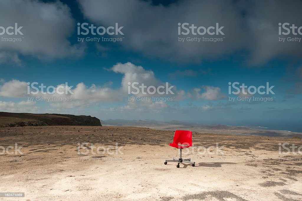 Red office chair royalty-free stock photo