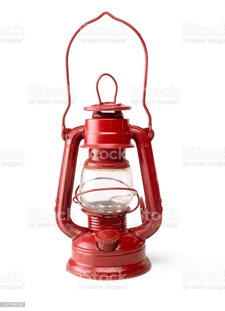 Red Oil Lamp royalty-free stock photo