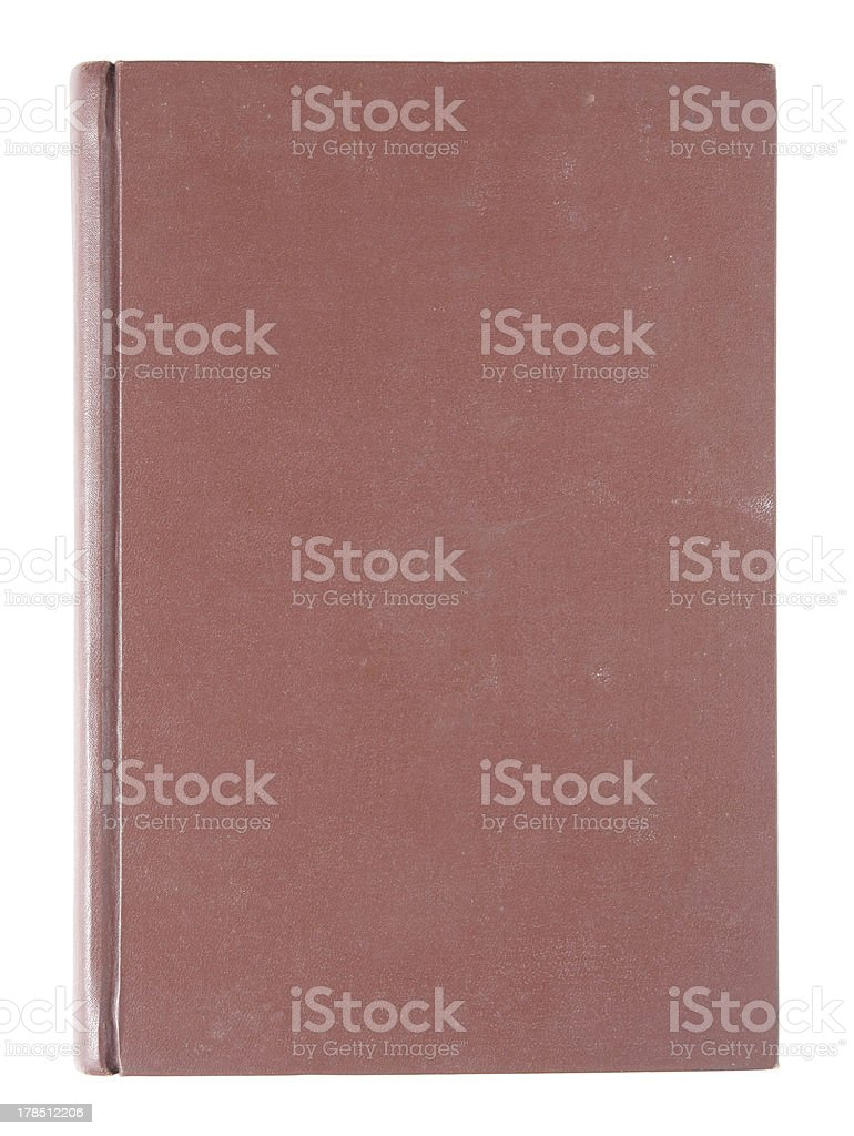Red old book Cover isolated royalty-free stock photo
