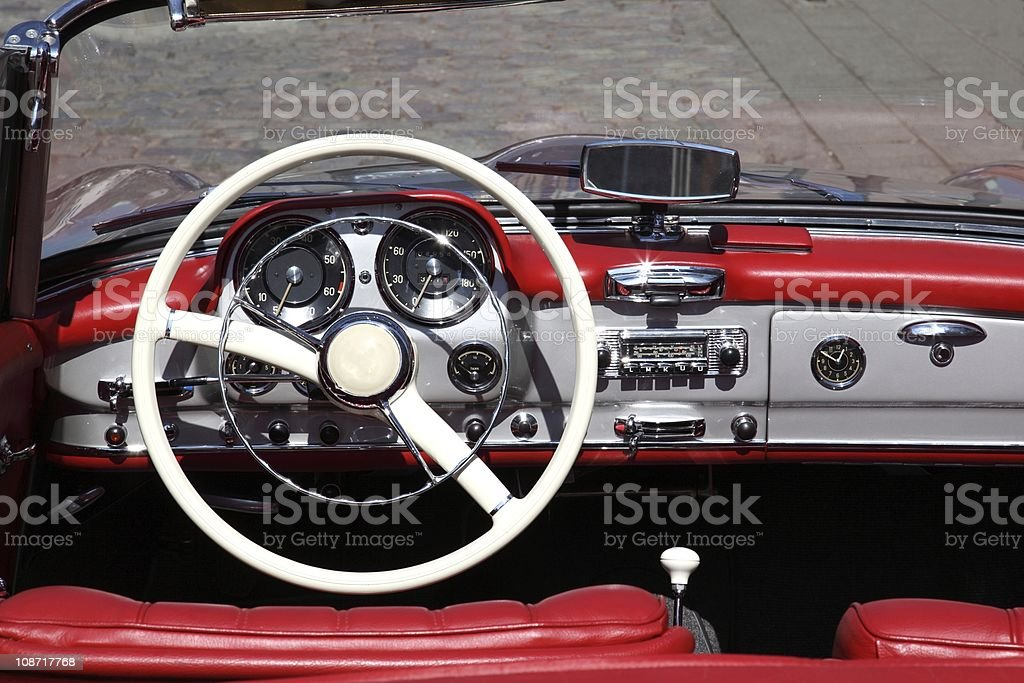 Red old cabrio royalty-free stock photo