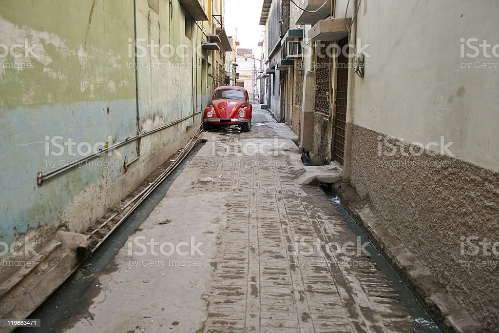Red old car royalty-free stock photo