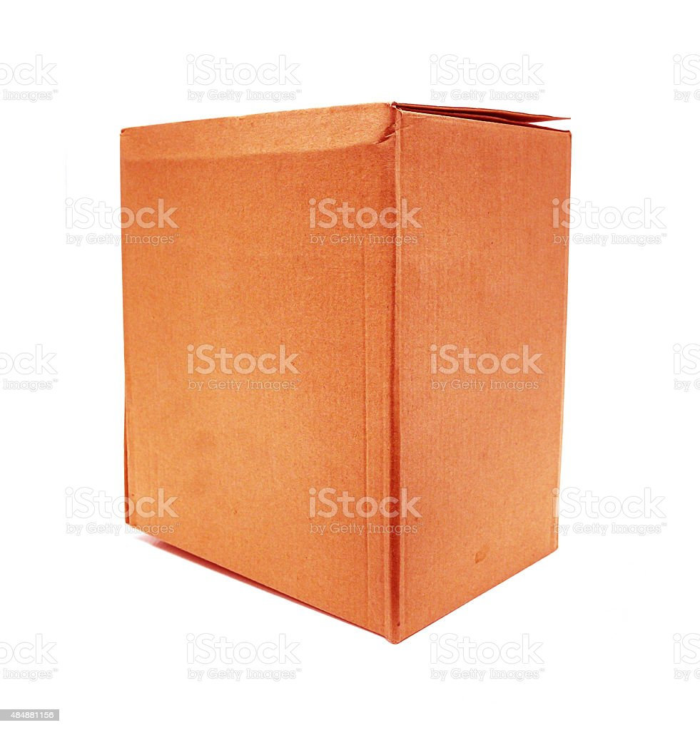 Red Old packaging cardboard royalty-free stock photo