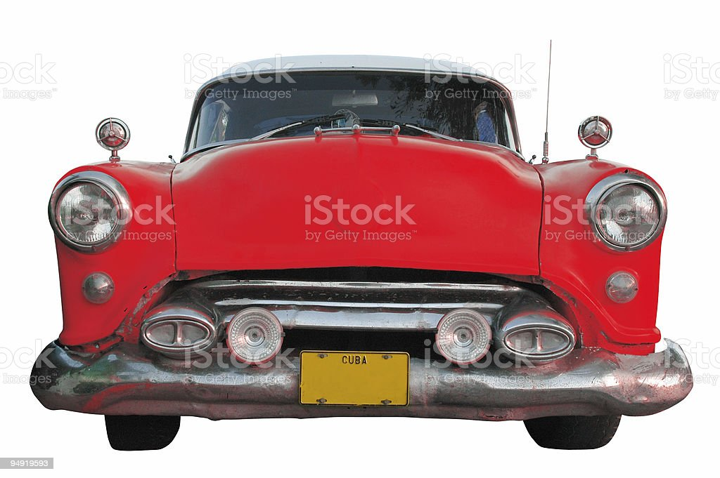 Red oldtimer royalty-free stock photo