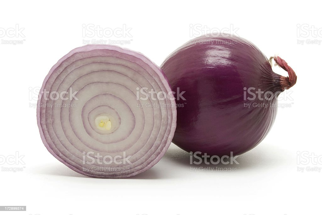 Red Onion Cut in Half royalty-free stock photo