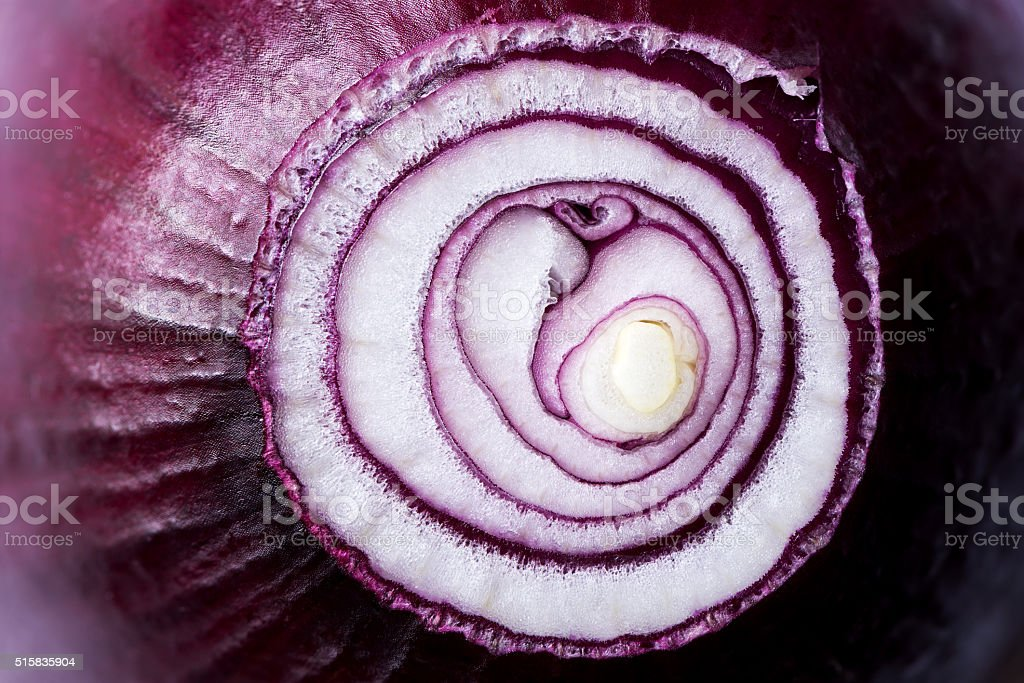 Red onion (background) stock photo