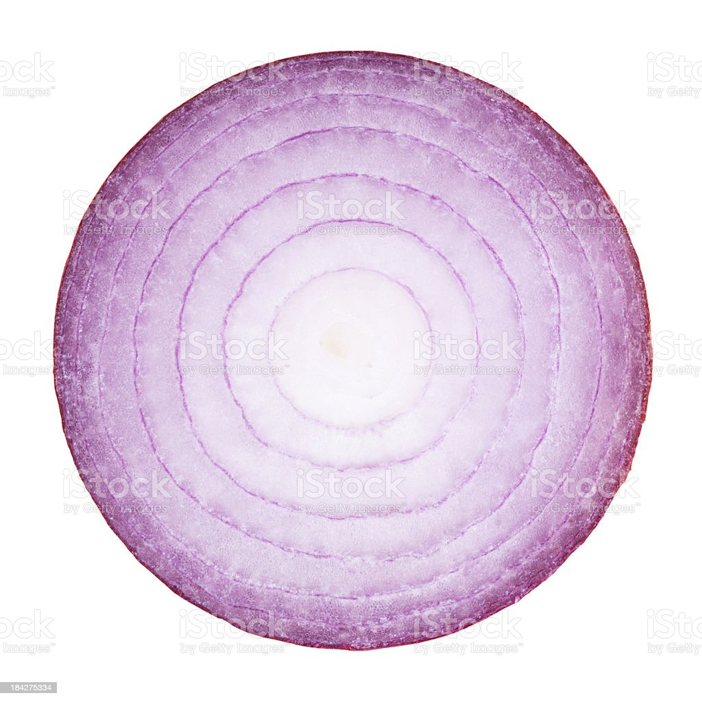 Red Onion Portion on White stock photo