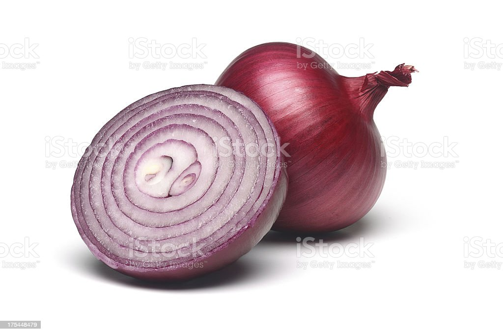Red onion slice stock photo