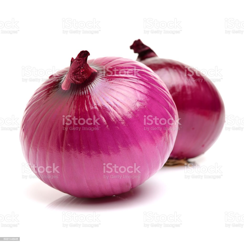 red onion with the outer peel removed, stock photo