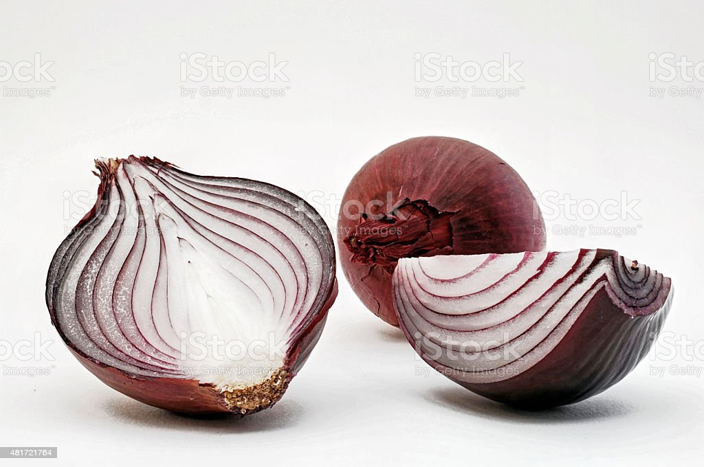 red onions for cropping stock photo