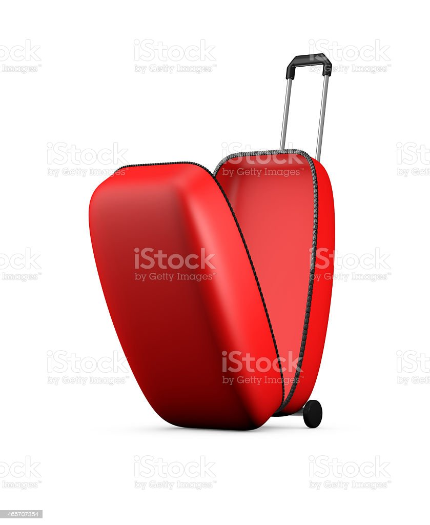 Red open bag stock photo