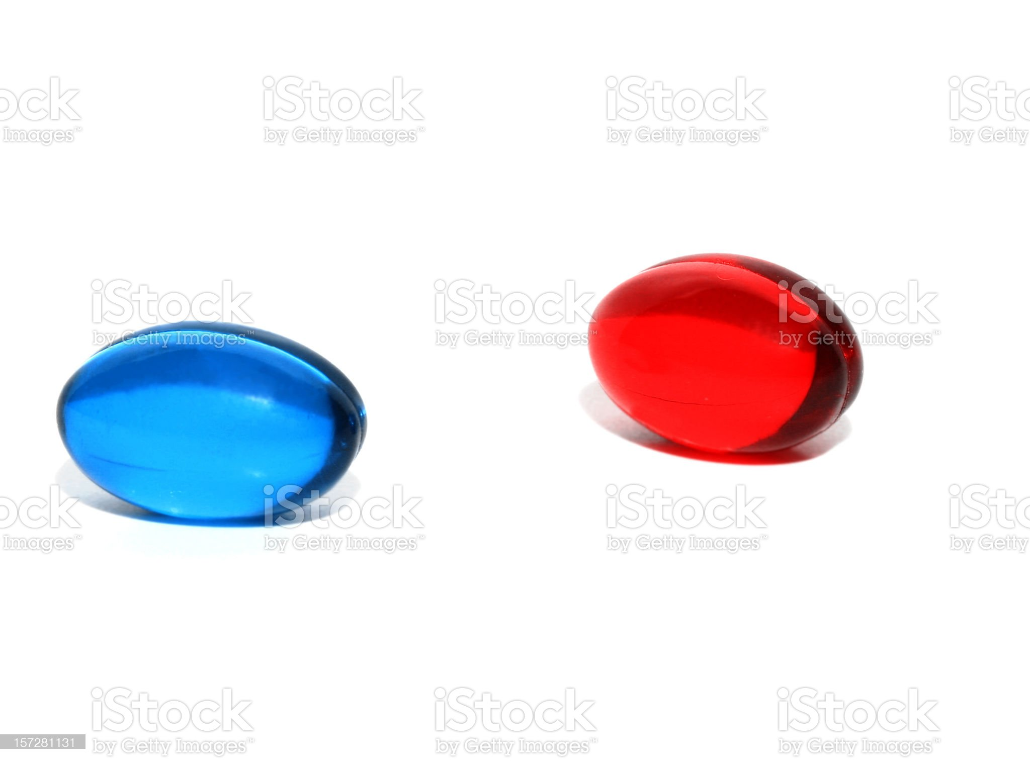 Red or Blue Pill royalty-free stock photo