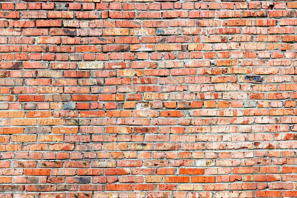 Red orange brick wall textureRed orange brick wall texture stock photo