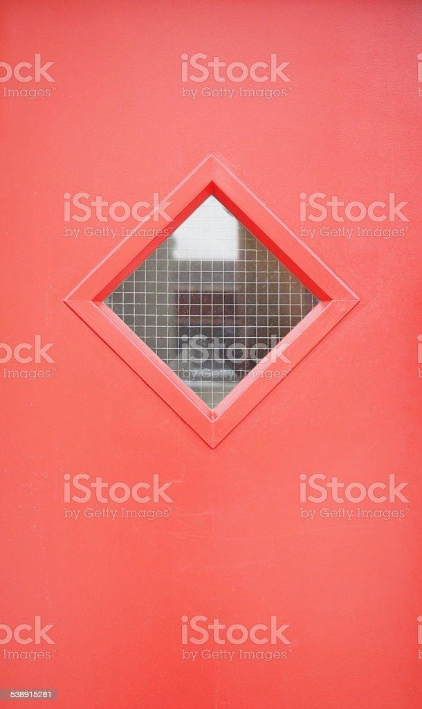 Porte rouge orange photo libre de droits