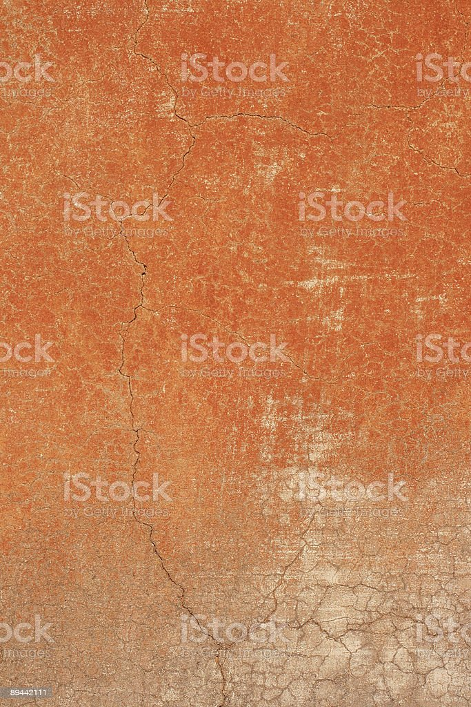 Red orange grungy Roman wall texture royalty-free stock photo