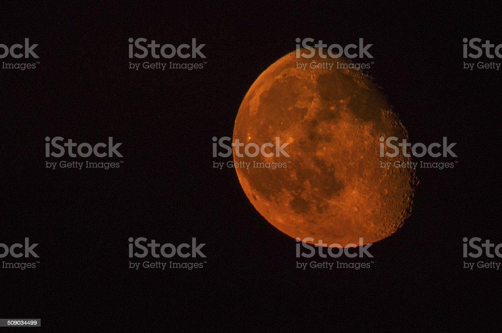 red orange moon eclipse copy space supermoon super stock photo
