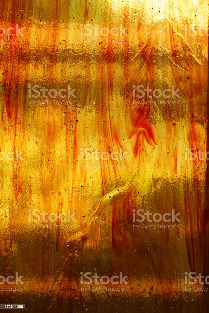 red orange stained glass royalty-free stock photo