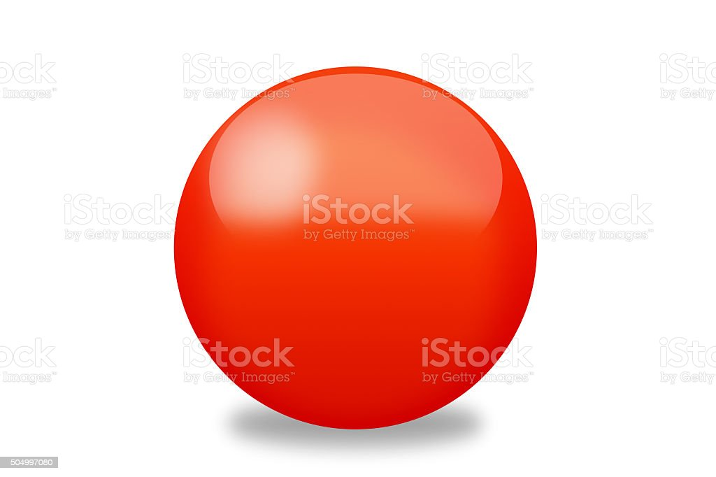 Red orb stock photo