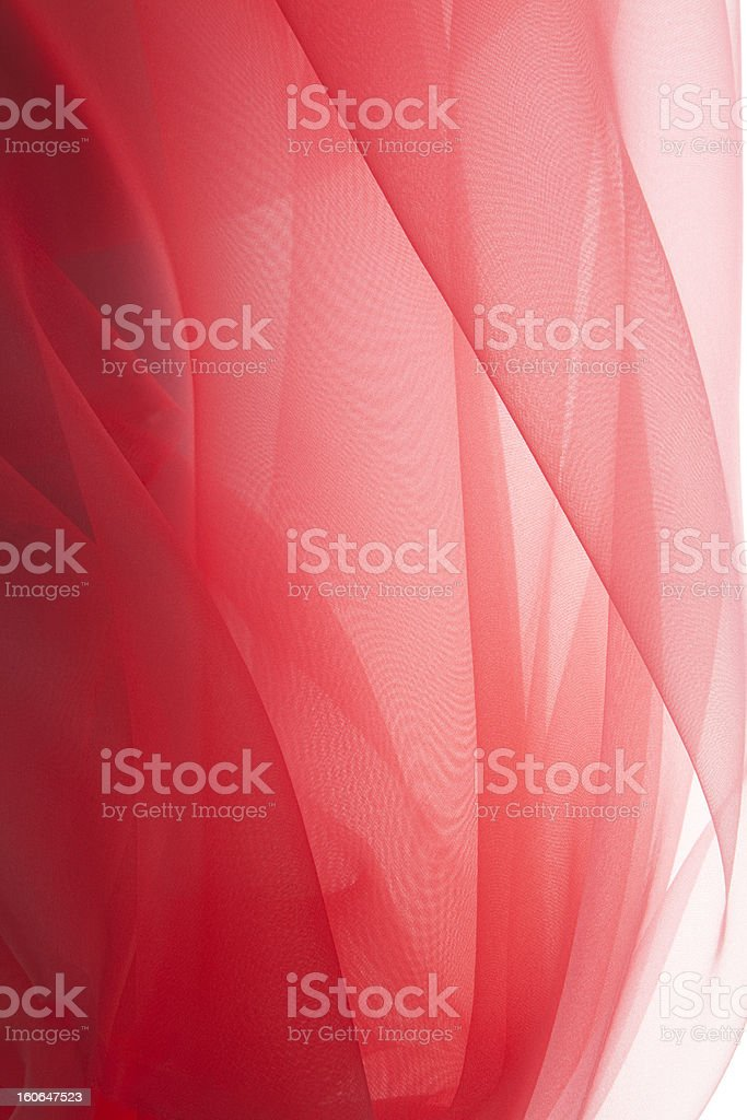 Red organdy stock photo