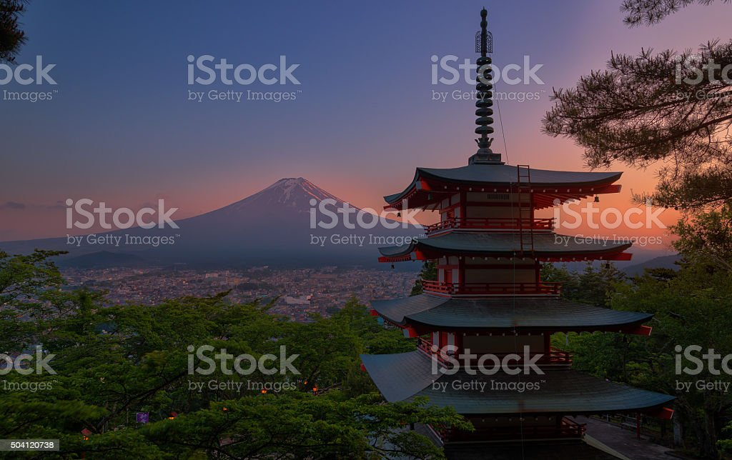 Red pagoda stock photo