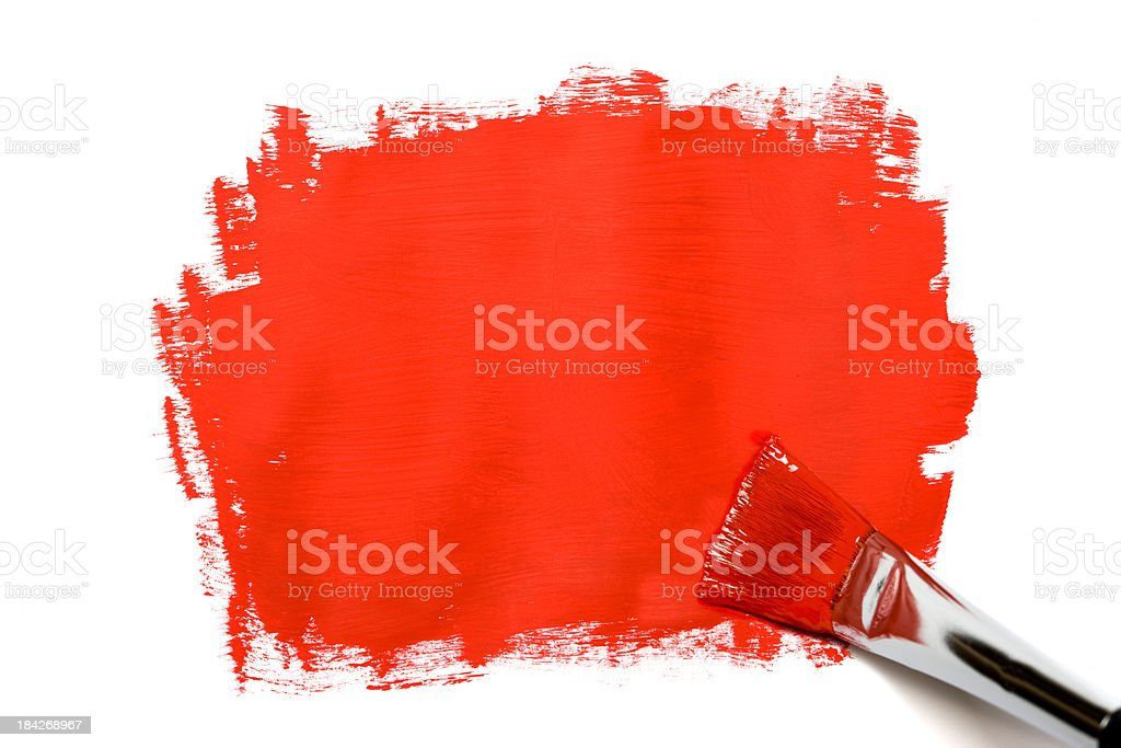 Red paint brush royalty-free stock photo