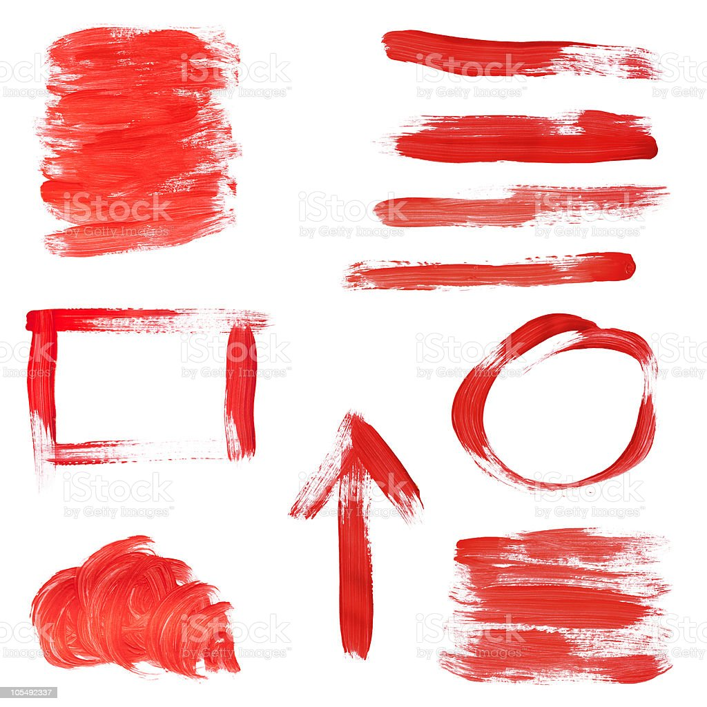 Red Paint Design Elements stock photo