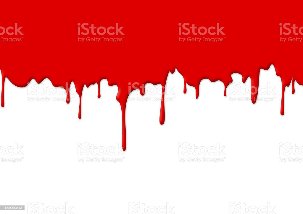 Red paint dripping and covering half of the picture royalty-free stock photo