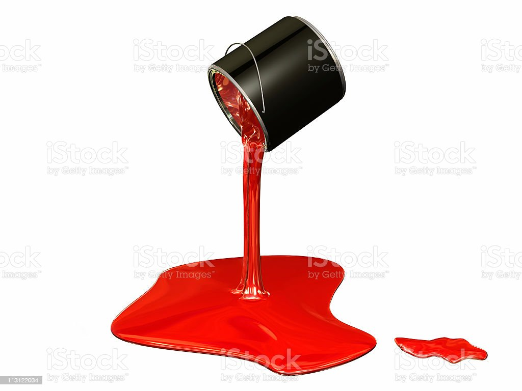 Red Paint Drop (3D) royalty-free stock photo