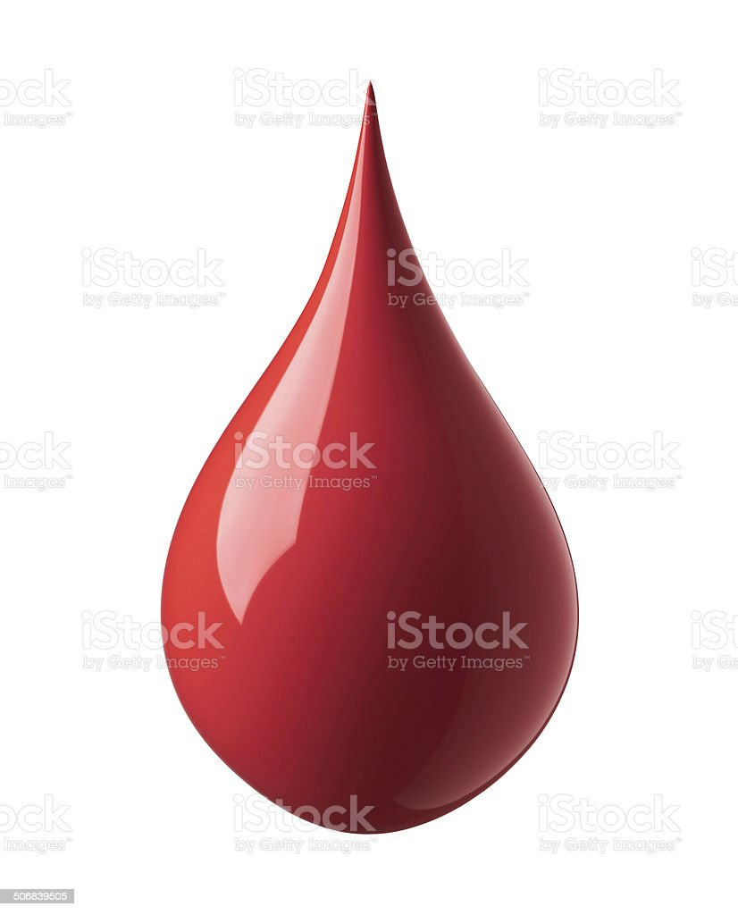 red paint drop royalty-free stock photo