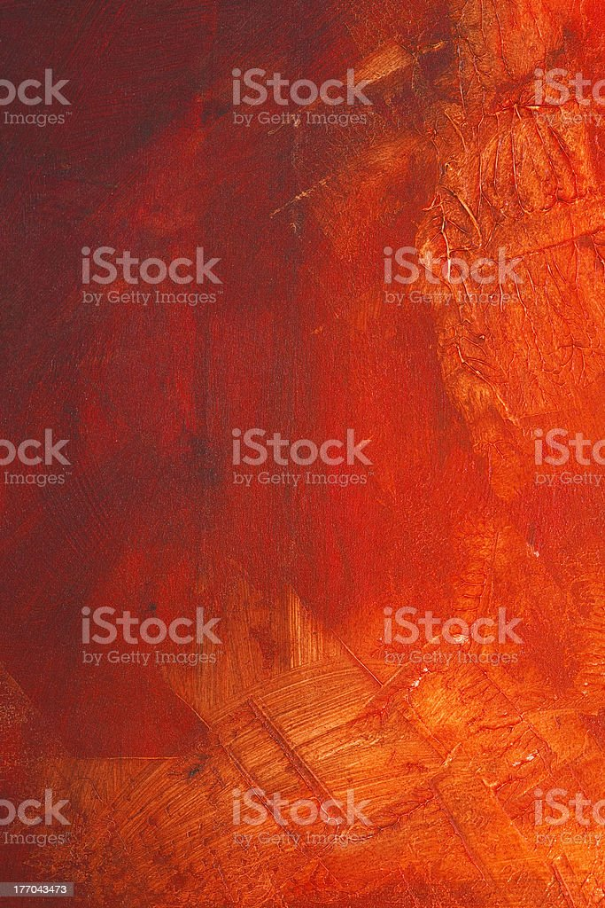 Red paint on canvas stock photo