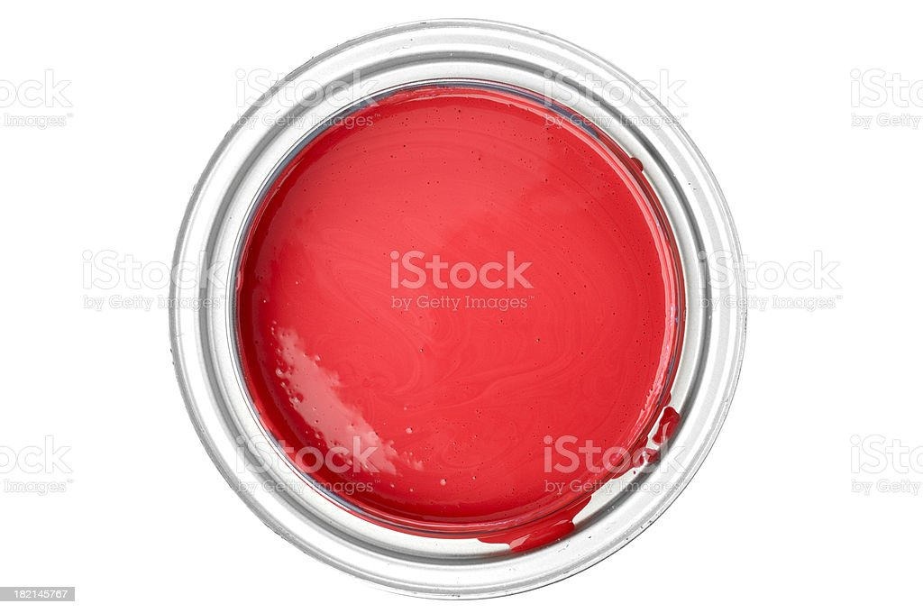 Red Paint stock photo
