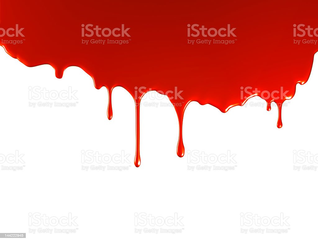Red Paint Pouring royalty-free stock photo