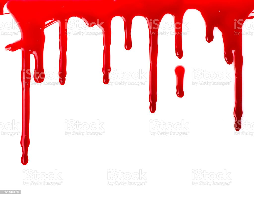 Red paint pouring stock photo