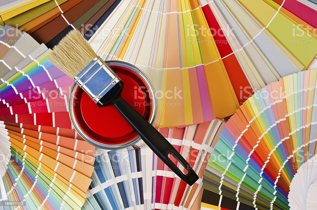 Red paint sample. royalty-free stock photo