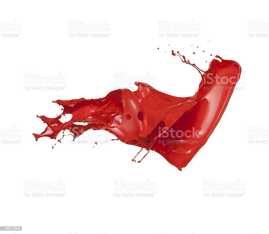 red paint splash stock photo