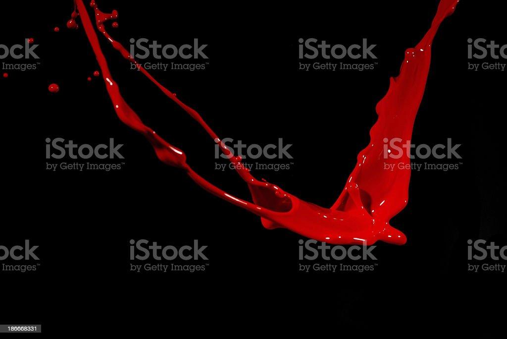 red paint splashing royalty-free stock photo