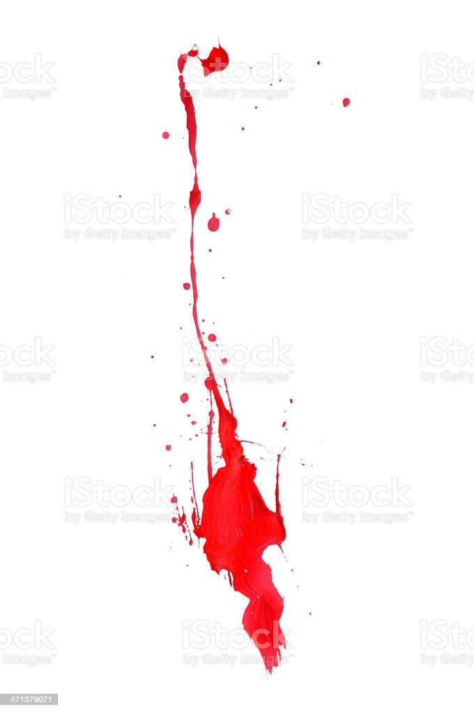 Red Paint Splat royalty-free stock photo